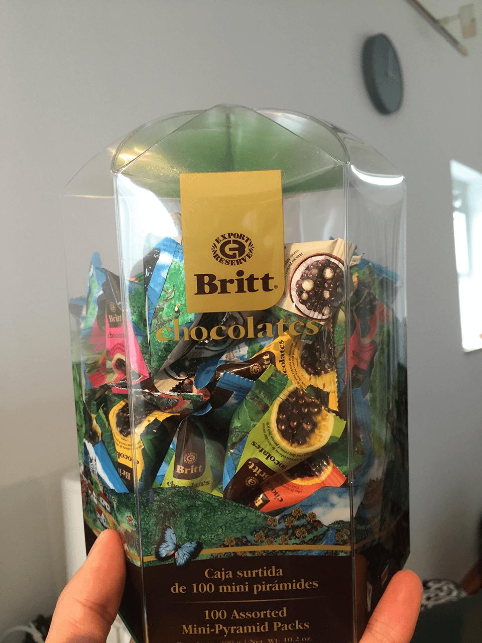 costarica souvernir britt chocolates