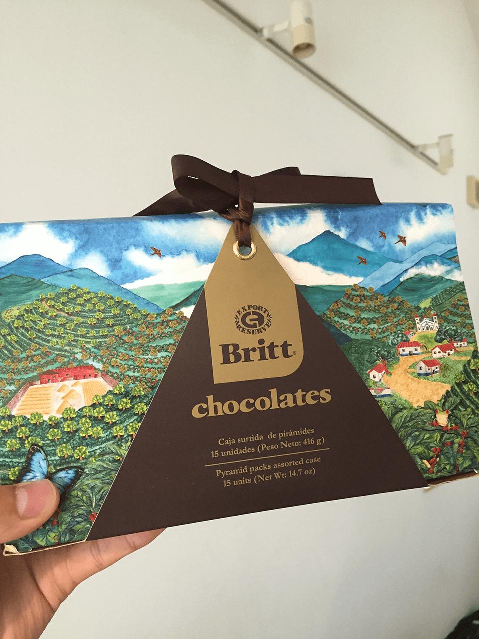 costarica souvernir britt chocolates for family